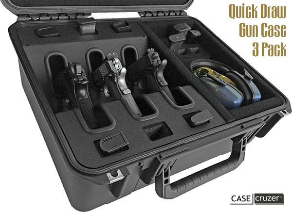 Drawn pistol long gun Fitted CaseCruzer Quick Bulletin Cases