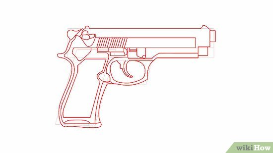Drawn weapon pistol  6 to Steps a