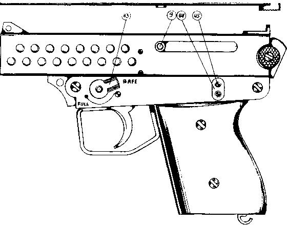 Drawn pistol machine gun Pistol Mini Bsp Gun Automatic