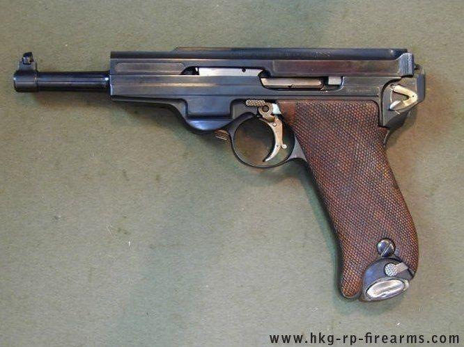 Drawn pistol machine gun Pin this more Gun on