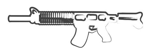 Drawn pistol machine gun Of Drawing Gun Gun Machine