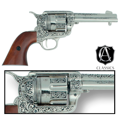 Drawn pistol old gun Fast Collector's Classics Engraved Revolver