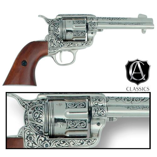 Drawn pistol old gun Fast Collector's Classics Engraved Revolver