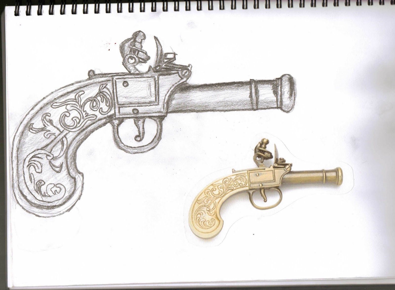 Drawn pistol old gun And and Drawing Shoe designs