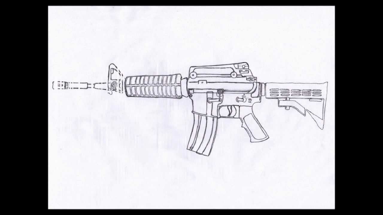 Drawn pistol paper M4A1 draw How STEP carbine
