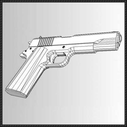 Drawn pistol paper Ver Pistol Colt http://www