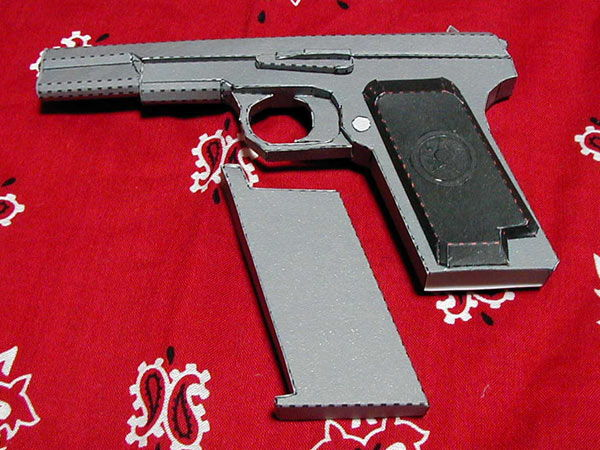 Drawn pistol paper  Ver TT Tokarev Full