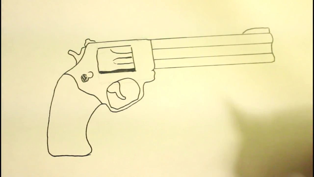 Drawn pistol paper A Draw How Pistol COM