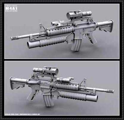 Drawn pistol paper Carbine M4A1 Full on Free