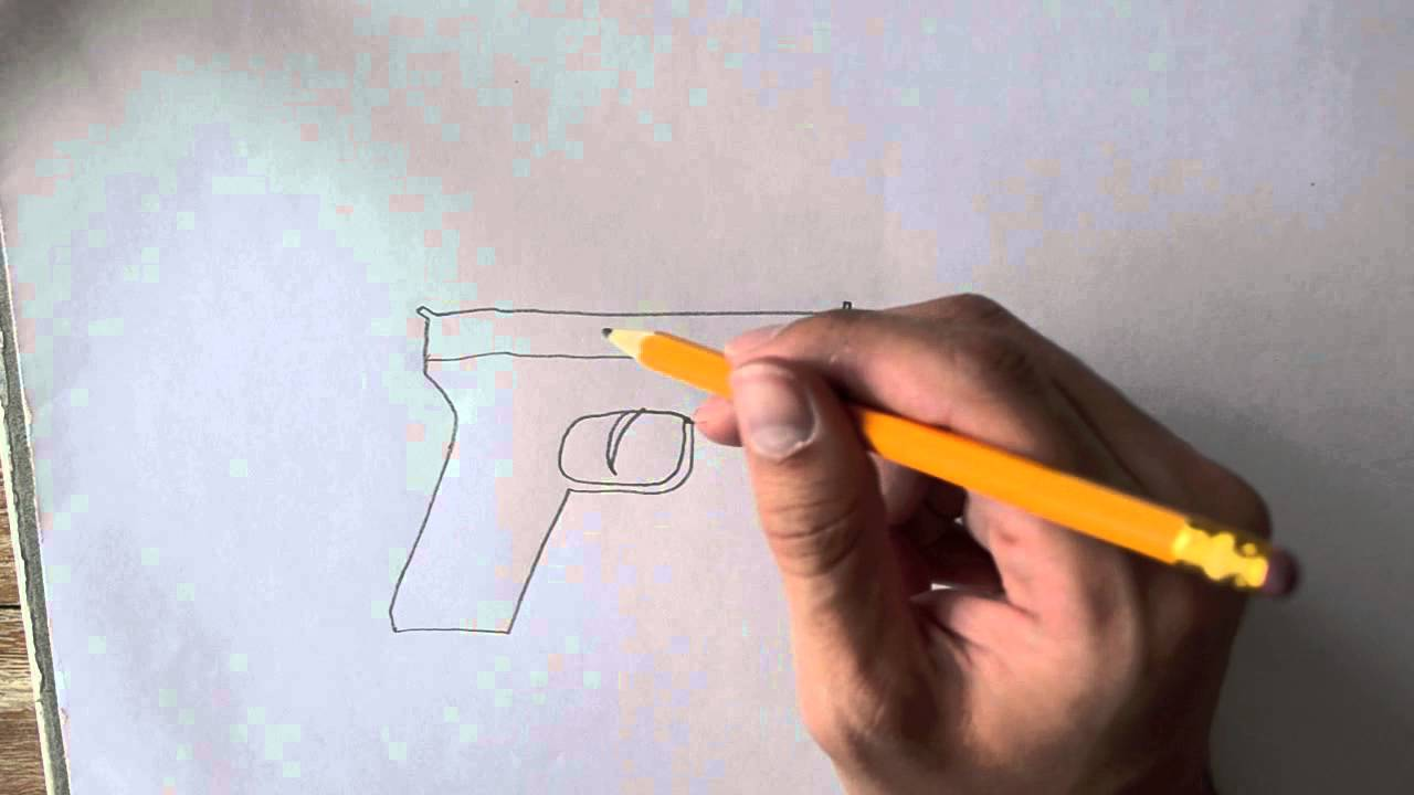 Drawn pistol paper Draw to  a How
