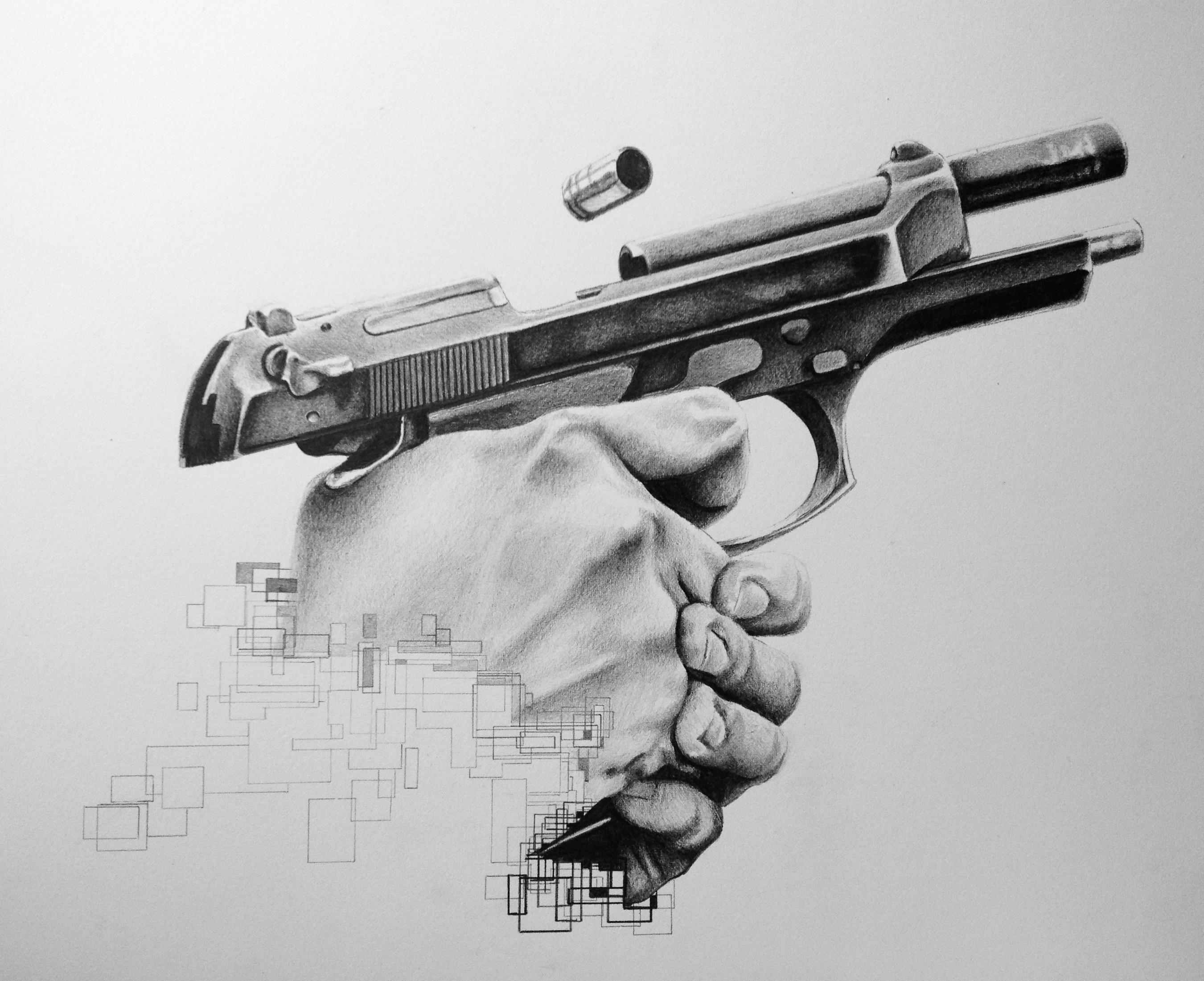 Drawn weapon glock 17 And fan art  art