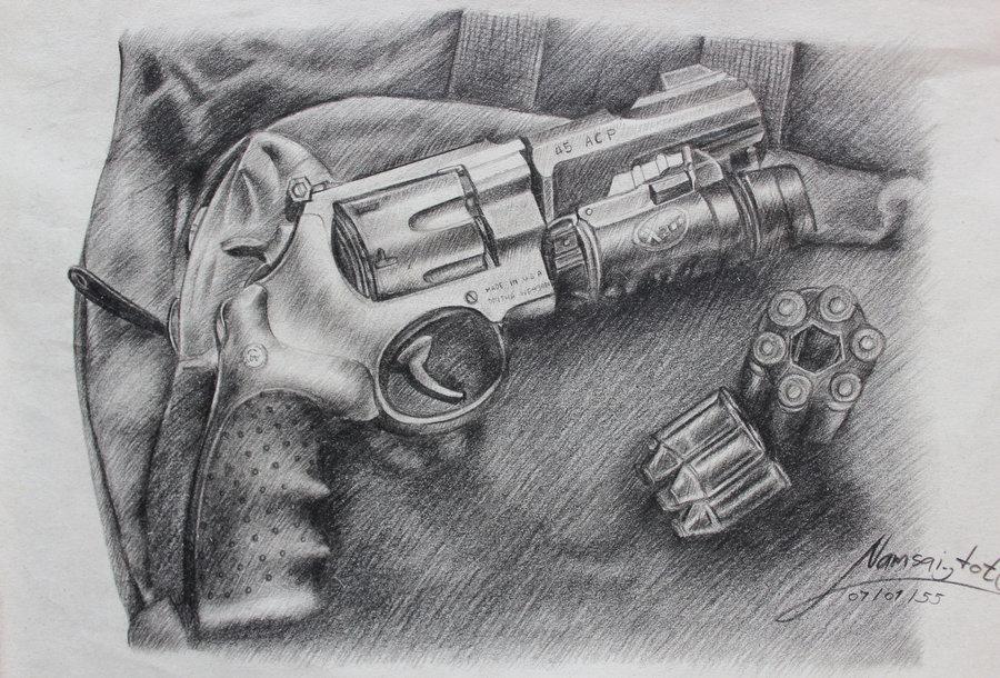 Drawn pistol realistic Drawing Gun  Images