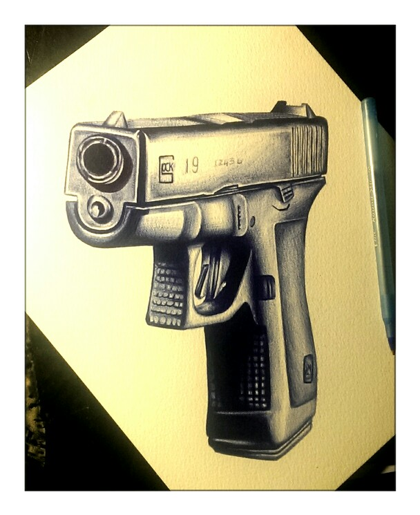 Drawn pistol realistic Gun  gun guns #