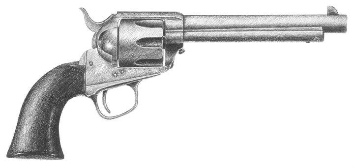 Drawn shotgun pencil Paper on Drawing ee ·