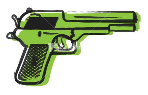 Drawn pistol rifle Retro Drawing Image Drawing Stock