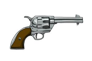 Drawn pistol rifle DrawingNow How Draw Draw a