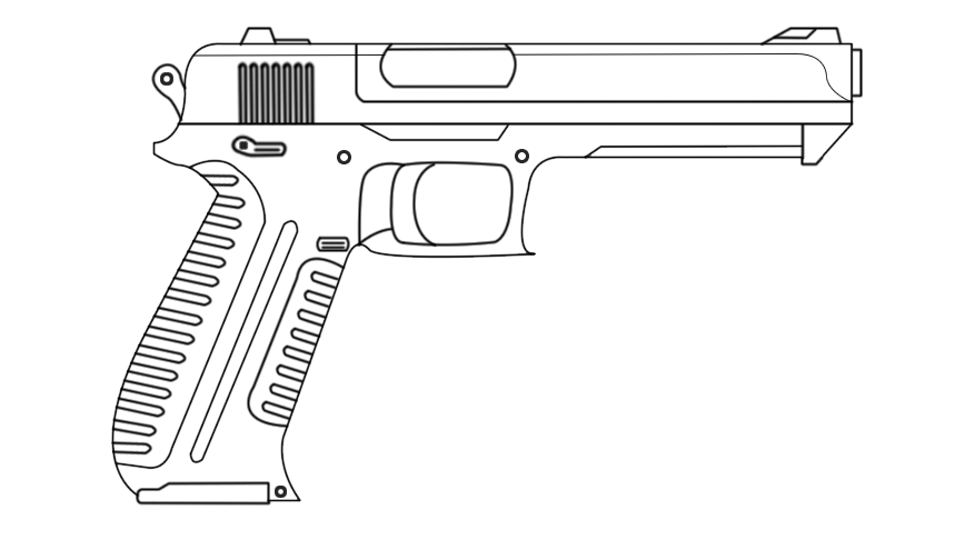 Drawn pistol rifle DeviantArt on Gun by by