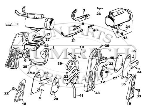 Drawn pistol schematic PISTOL Flare Image Accessories M8