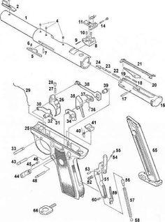 Drawn pistol schematic (http to net 22/45