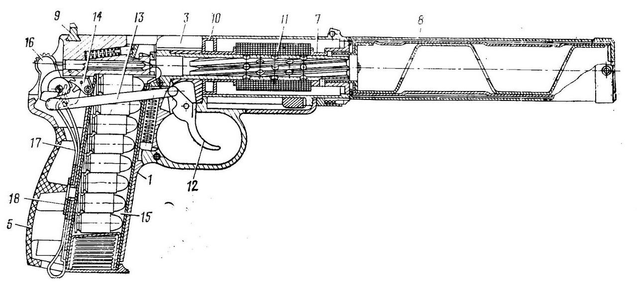 Drawn shotgun 9mm pistol Pistol entire manual dated from