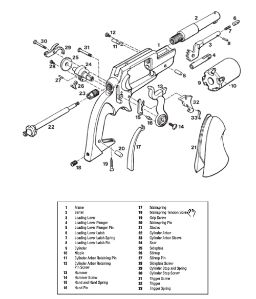 Drawn pistol schematic Gun Handguns Download Drawings Digital
