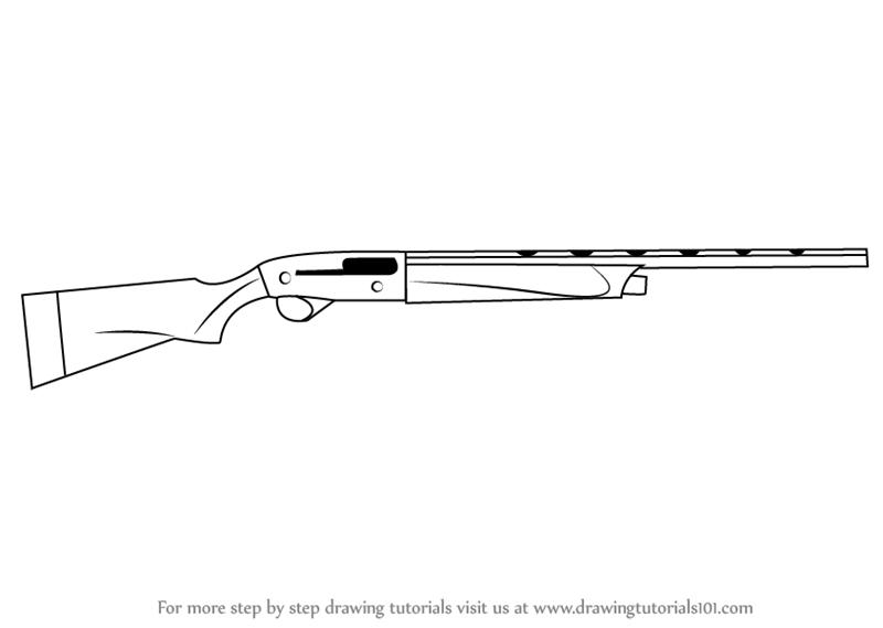 Drawn pistol shotgun Draw A400 to A400 Step
