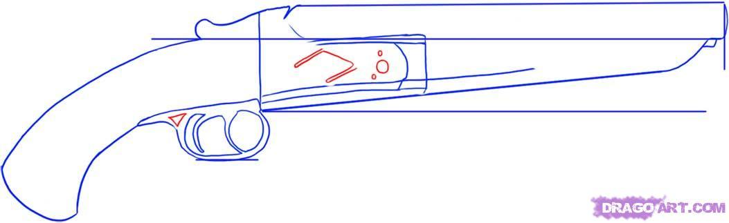 Drawn pistol shotgun Draw gauge sawed 4 FREE
