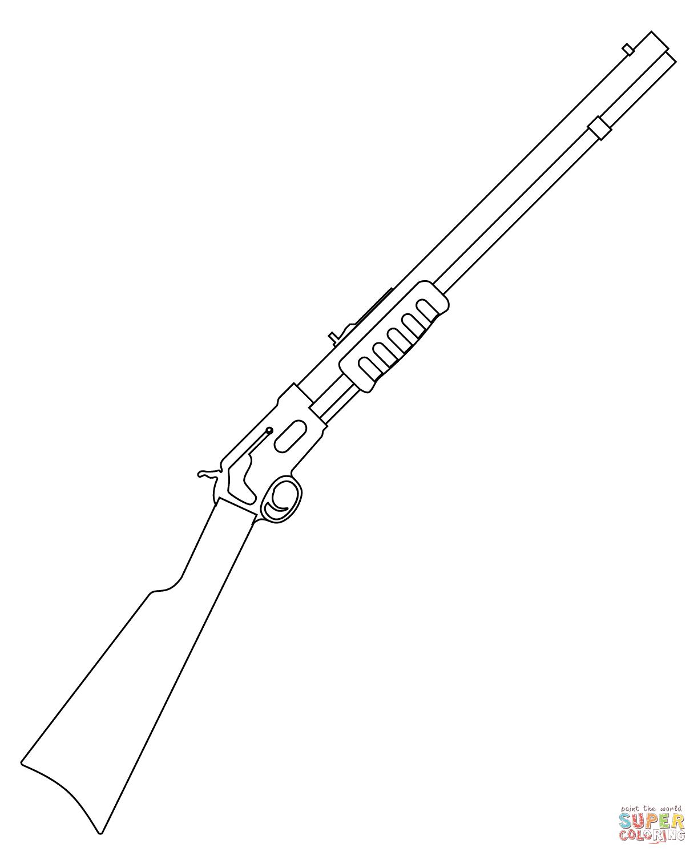 Drawn pistol shotgun Shotgun coloring Printable coloring Coloring