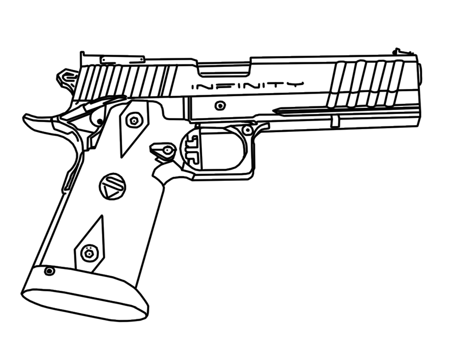 Drawn pistol simple Tracing Simple suggest Drawing Drawing
