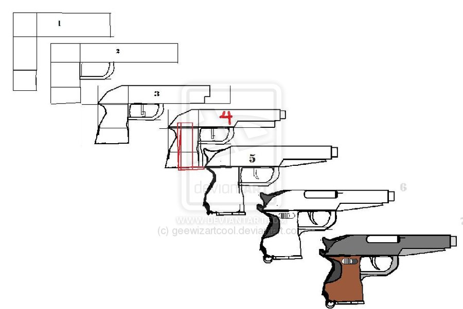 Drawn pistol simple To A Long Deviantart On