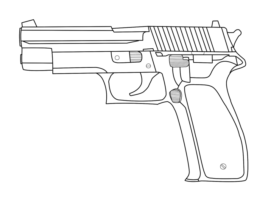 Drawn pistol simple By Simple suggest Drawing Drawing