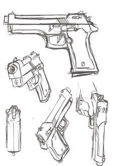Drawn pistol simple Pin more Picture Drawings Drawing