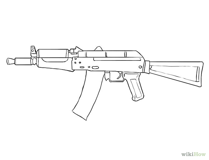 Drawn pistol simple A Bit 2017 TheCodeOfGamers Draw