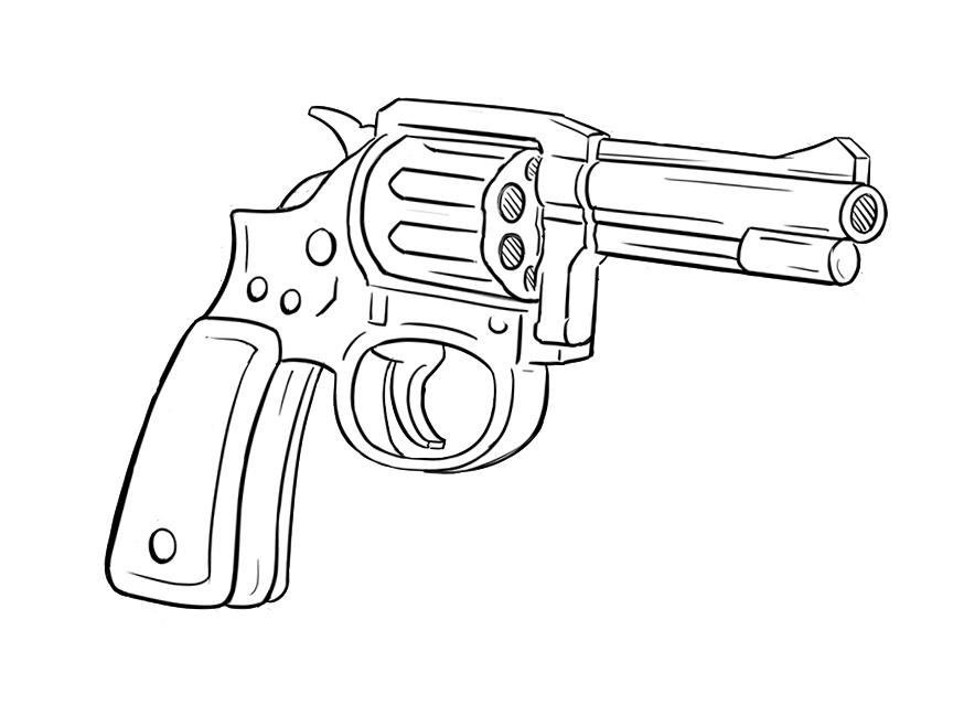 Drawn pistol sketch And Anamorphic Vs Music Ben