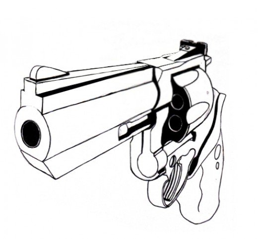Drawn pistol sketch How An a FeltMagnet occurred