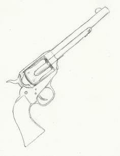 Drawn pistol sketch Picture Drawing Challenge: To 30