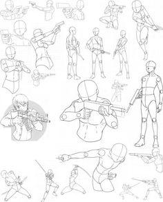 Drawn pistol sketch A art to gun Fight