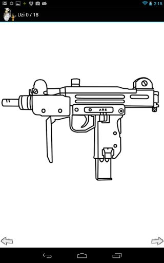 Drawn pistol small gun #1