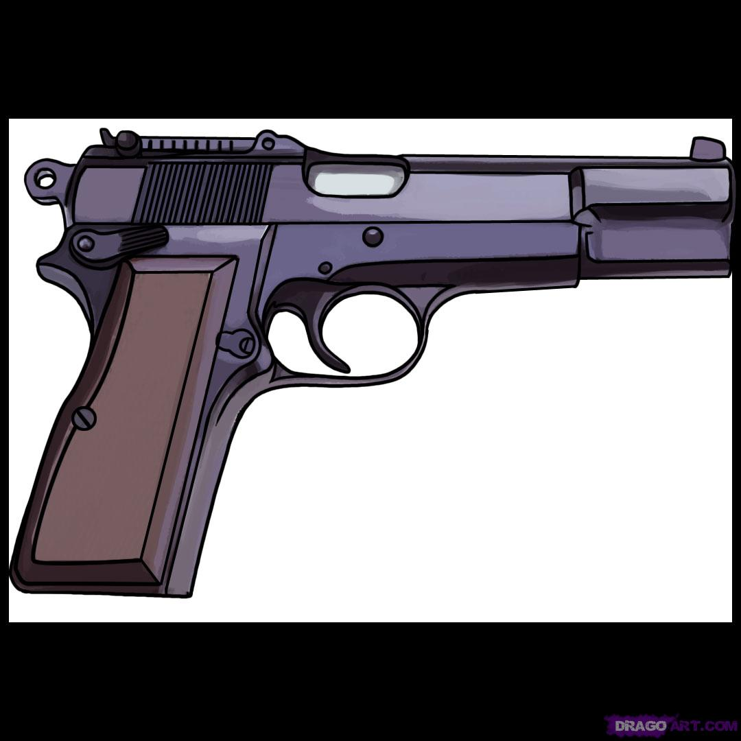 Drawn pistol small gun #4
