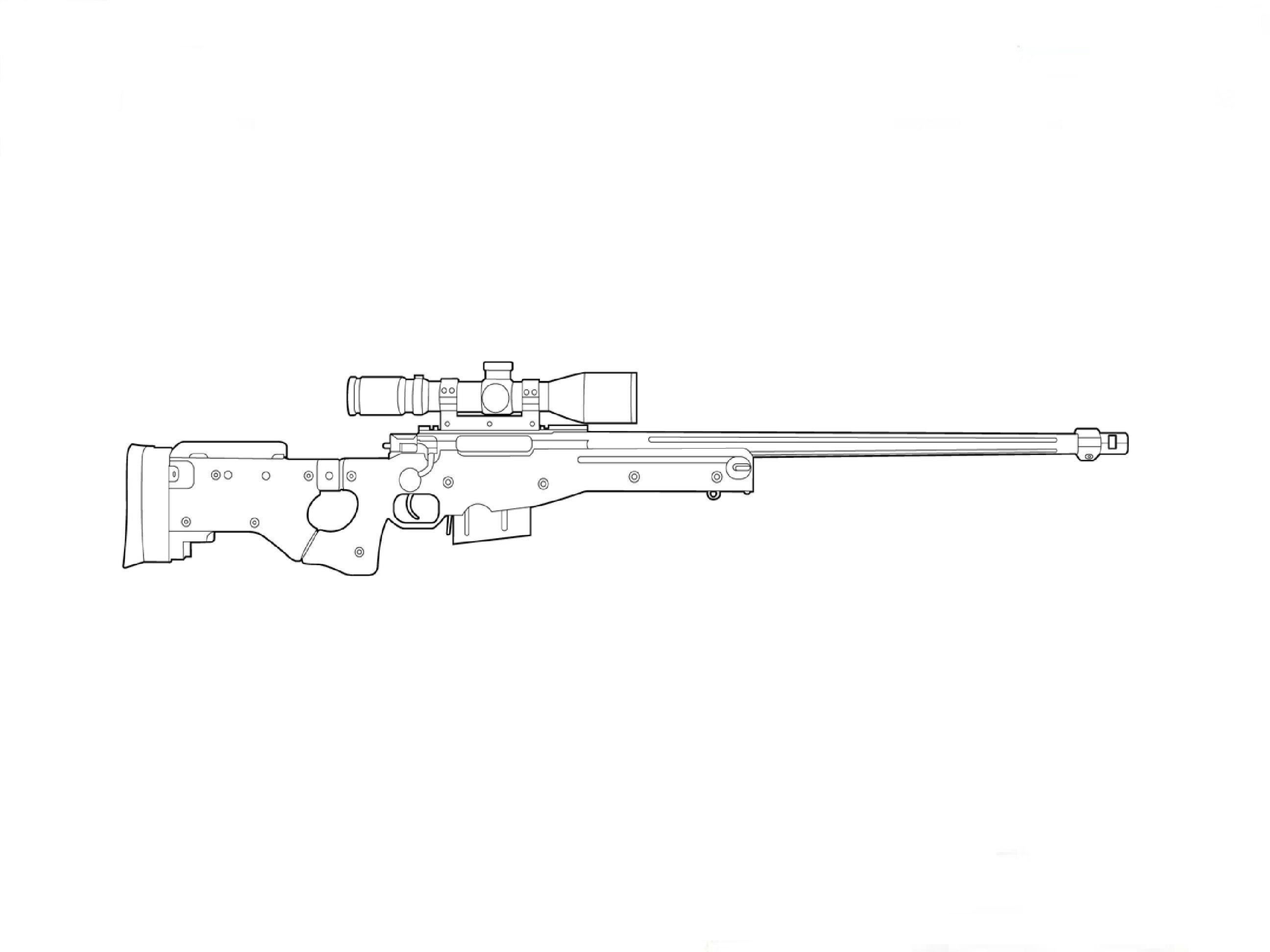 Drawn pistol sniper gun Sniper Rifle AWP How to