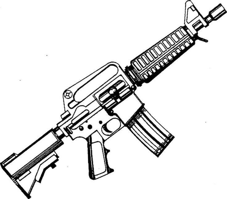 Drawn pistol sniper gun Pistol Sniper Coloring Gun Aim