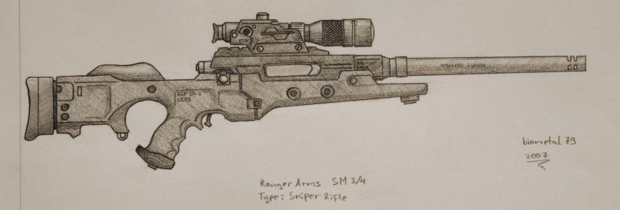 Drawn pistol sniper gun By biometal79 biometal79 Arms Ranger
