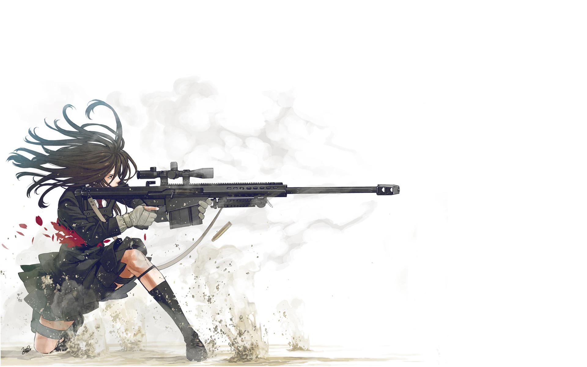 Drawn pistol sniper gun Wallpaper  Drawings Guns Sniper