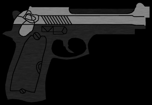 Drawn pistol standard Image Standard Space Pistol Deadly