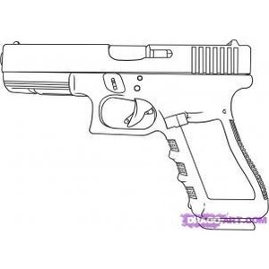 Drawn pistol step by step Step Gun Step Step By