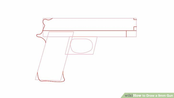 Drawn pistol step by step WikiHow preview Image to (with