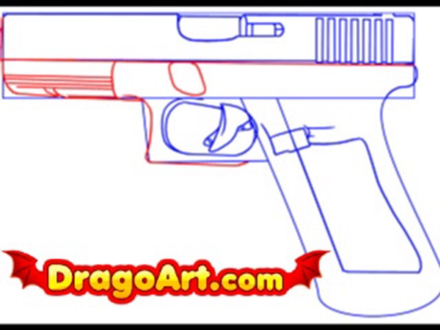 Drawn pistol step by step Step  Dailymotion a to