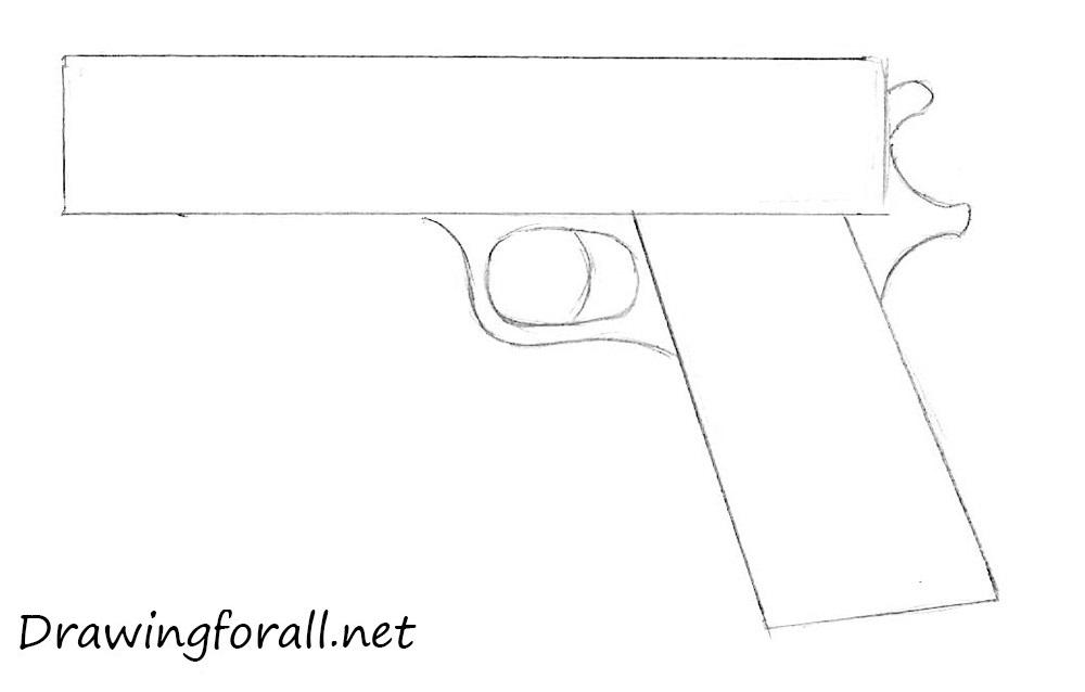 Drawn pistol step by step Gun 3 Beginners net How