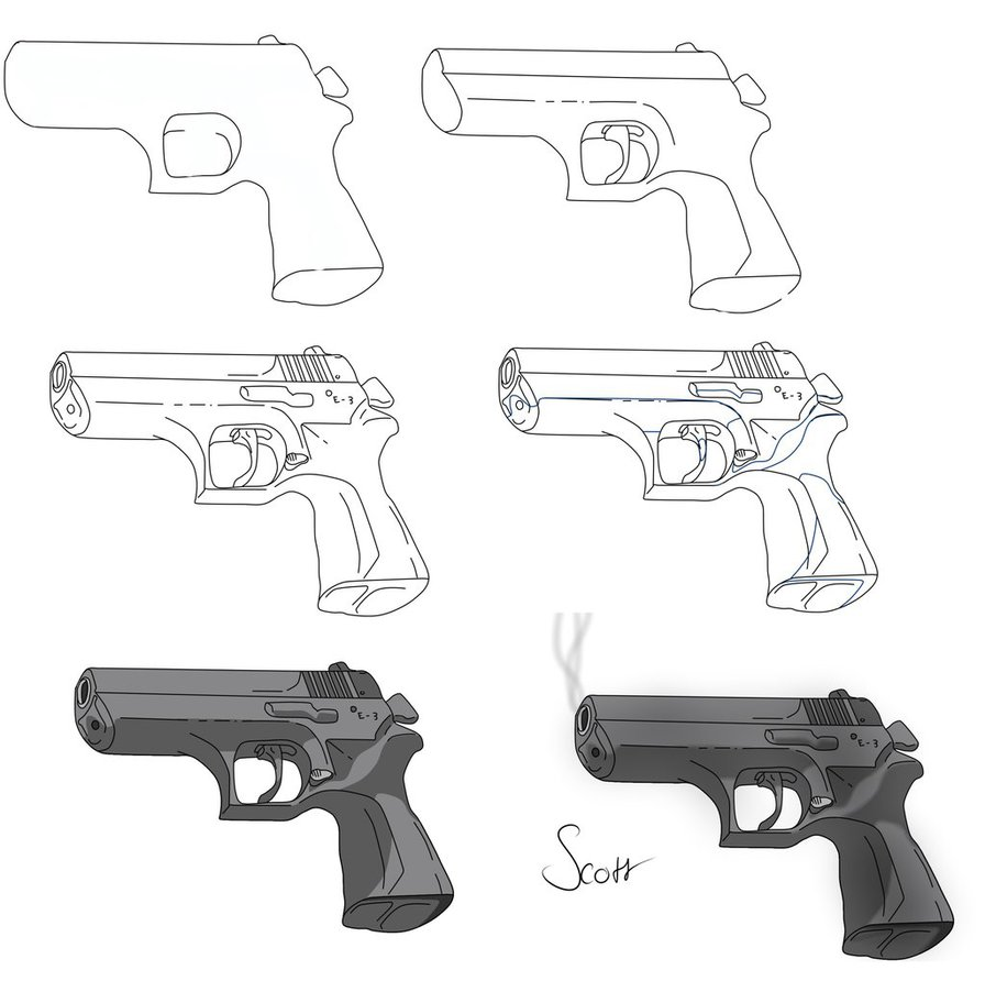 Drawn pistol step by step On how How how draw