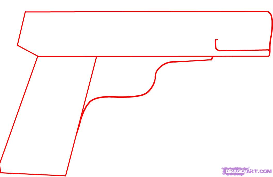 Drawn pistol step by step  to how a FREE